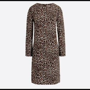 NWOT J Crew Factory Leopard tunic dress